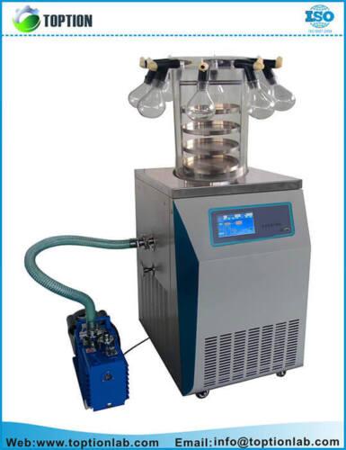 TOPT-12C Vertical multi-port vacuum freeze dryer Lyophilizer 1yr Warranty