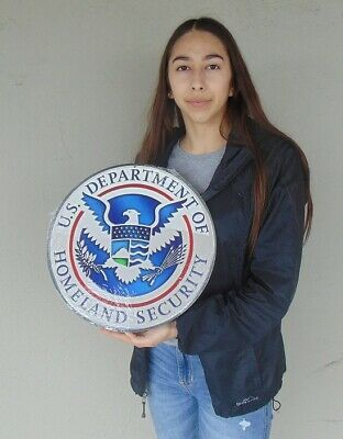 Homeland Security Seal - Department of Home Land Security SEAL All Metal Sign 14