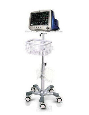 Rolling Stand For Ge Dash 4000 Patient Monitor New Big Wheel