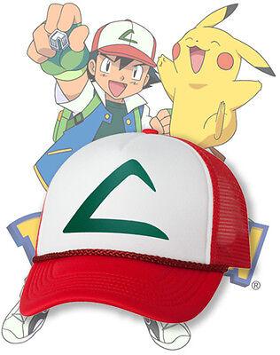 Ash Ketchum Pokemon cosplay Hat Halloween Costume Hats Cap