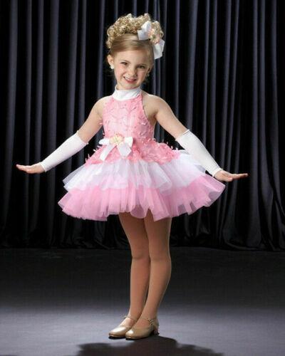 Group Lot 3 Child Large RIBBONS & BOWS Babydoll Tutu Dress Dance Ballet Costume