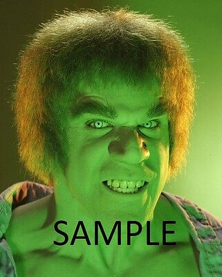 "Set Of 7 Incredible Hulk  Bill Bixby  Lou Ferrigno 7"" x 5"" Prints  TV Series"