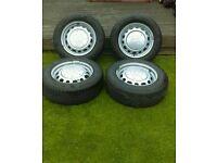 """Peugeot Partner 15"""" Wheels & Tyres x 4"""