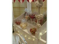 Sweet cart for Hire weddings