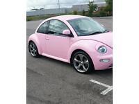Glitter pink volkswagon vw beetle car