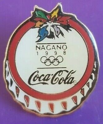 1998 Nagano Olympic Winter Games Pin - Coca Cola - New Never Opened Collectible