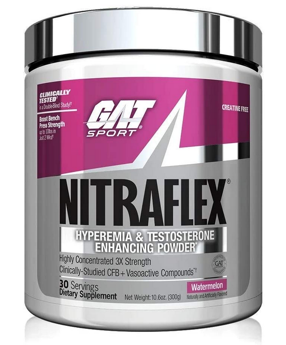 GAT NITRAFLEX Pre-Workout Testosterone Booster / 30 Serving