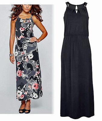Premium Abendkleid Maxikleid Sommer-Kleid schwarz Gr. 44/46 Neu 929519