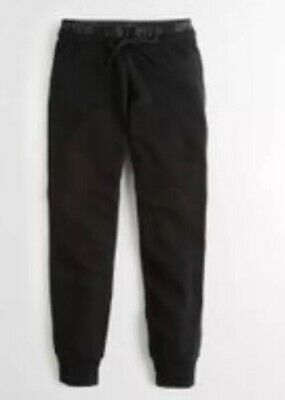Hollister Womens Black HighRise Fleece Joggers Size Medium