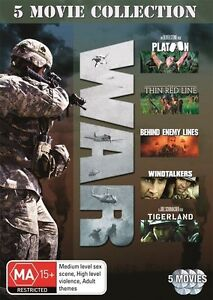 WAR-5-MOVIE-COLLECTION-PLATOON-THE-THIN-RED-LINE-BEHIND-ENEMY-DVD