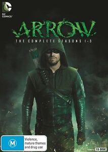 Arrow : Season 1-3 (DVD, 2015, 15-Disc Set)  New, ExRetail Stock, Genuine D81