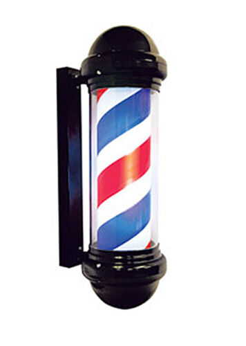 Barber Pole Indoor Outdoor Lighted Cylinder Spins on/off switch 6