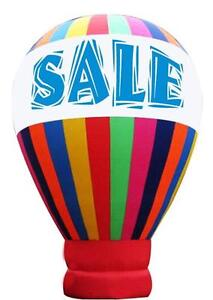 Advertising 6m Advertising Hot-Air-Balloon 19.7Foot Inflatable Balloon Big Sale Promotion Tools Shaped Cold Air 212030