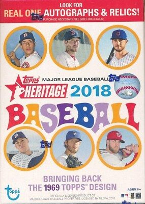 2018 Topps Heritage Baseball EXCLUSIVE Factory Sealed Blaster Box-Loaded!