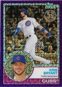 2018 Topps Silver Pack Chrome Purple Kris Bryant Cubs 03/75