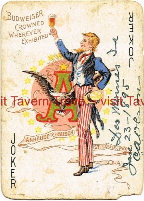 1899 ANHEUSER-BUSCH 1 card JOKER (From Spanish American War set)