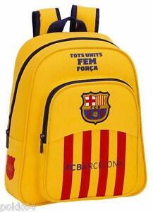 economico per lo sconto 2324e 30ca3 Dettagli su FC Barcelona Zaino Fcb Barcelona Giallo M 34 cm Cartella Asilo  233366
