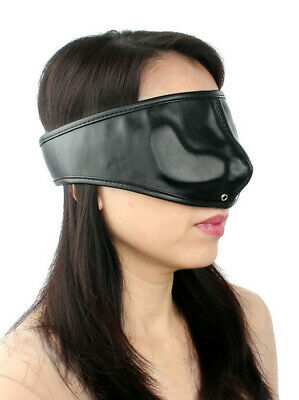 Bondage Leder Augenbinde Augenmaske mit Luftlöcher