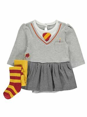 BABY Girls George Harry Potter HERMIONE GRANGER Skirted Bodysuit Tights Outfit - Harry Potter Kostüm Babys