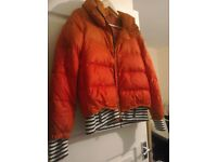 Women winter Warm Padded quilted HoodedJacket xl, 8-10 Elastic CUFF AND WAIST zippers