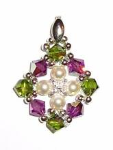Handmade Pendant made of Swarovski Crystals and Pearls Eastwood Ryde Area Preview