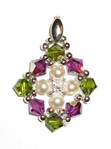 Elegant Handmade Pendant made of Swarovski Crystals and Pearls Eastwood Ryde Area Preview