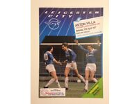Football Programme, Leicester City v Aston Villa, League Division One Saturday 11th April 1987