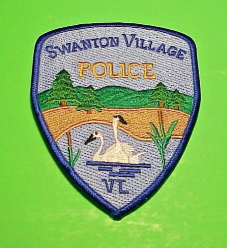 """SWANTON VILLAGE VERMONT VT (2 SWANS ) 4 3/4"""" POLICE PATCH  FREE SHIPPING!!!"""