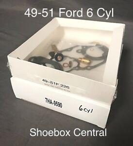 1949 1950 1951 Ford Shoebox 226 Six 6 Cylinder Carb Carburetor Rebuild Kit