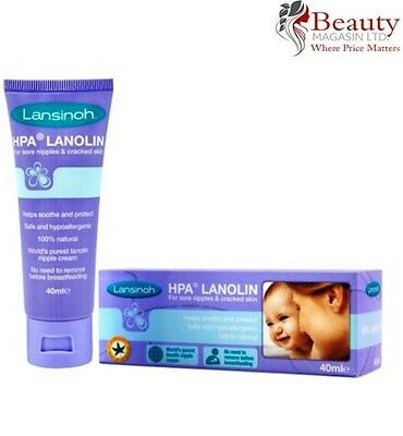 Lansinoh HPA Lanolin Cream for Sore Nipples & Cracked Skin ( 40ml )