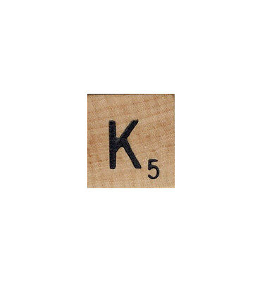 Letter K Craft (SCRABBLE TILES - Wooden Letters (RARE letter K ) - FREE SHIPPING - Craft)