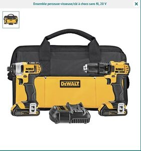 New dewalt impact drill and driver kit perceuse neuf 20v