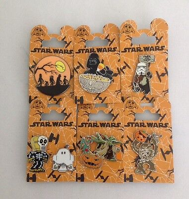 DISNEY PARKS STAR WARS 2015/2016 HALLOWEEN PINS LOT OF 6 ~ R2-D2 ~ C-3PO ~ YODA](Peck Park Halloween)