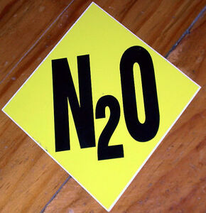 N20 Nitrous Oxide Sticker.  ANDRA Drag Racing (Authorised ANDRA Stockist)