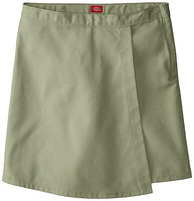 Dickies Little Girls Faux Wrap Skort Khaki NWT size 6 Back to School Uniform