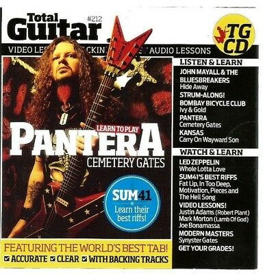 Total Guitar #212 CD/DVD Video/Audio Lessons..New/Sealed..2011