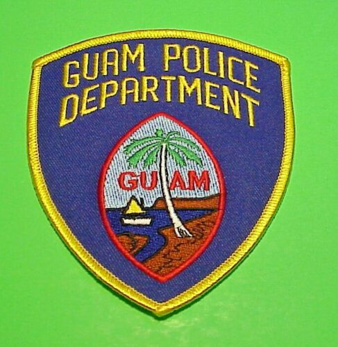 """GUAM  4 1/4""""  POLICE PATCH  FREE SHIPPING!!!"""