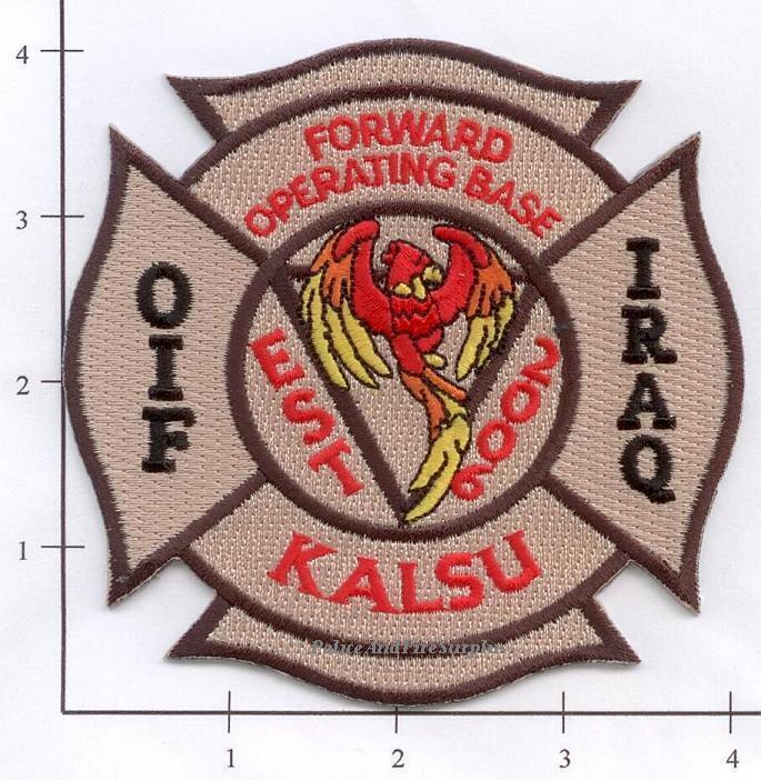 Iraq - Kalsu Forward Operating Base Fire Dept Patch v2 - OIF
