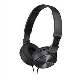 Sony ZX310AP On-Ear Headphones Compatible with Smartphones, Tablets and MP3 Devices - Black