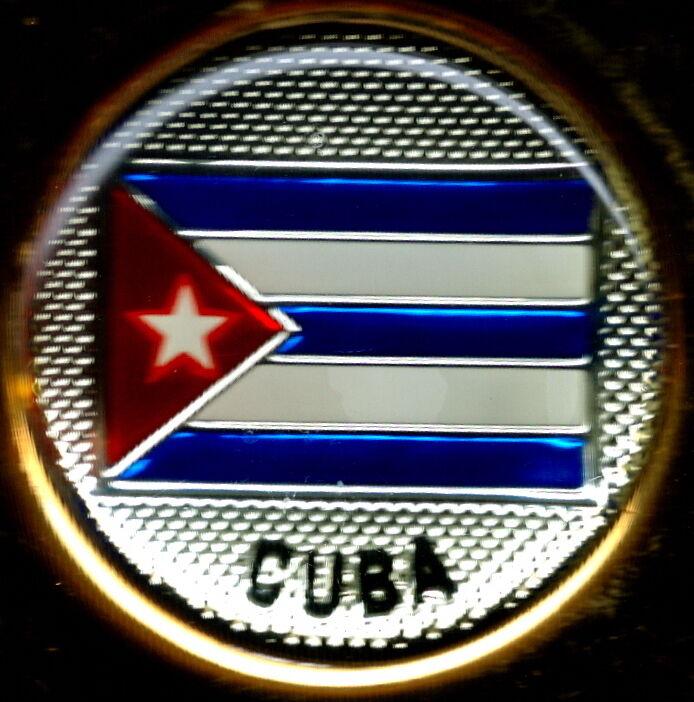República de Cuba Flag Solid Brass Key Chain s NEW