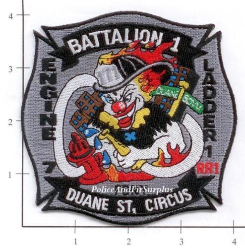 New York City NY Fire Dept Engine 7 Ladder 1 Battalion 1 Patch v3