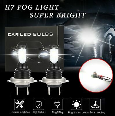 H7 CREE CSP LED Headlight Bulbs Kit Super High/Low Beam 10000LM 6500K White (Best Cross Country Motorcycle)