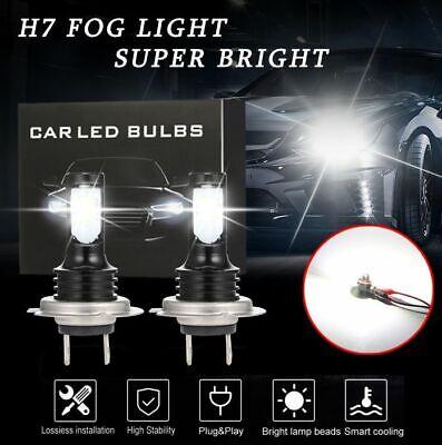 H7 CREE CSP LED Headlight Bulbs Kit Super High/Low Beam 10000LM 6500K White (Best Auto Headlight Replacement Bulbs)
