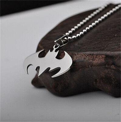 1Pcs Batman Superhero Pendant Necklace Steel Chain Fashion Stainless Men