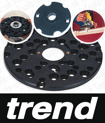 Trend Universal Router Jig Sub Base + Pins & Guide Bush Unibase