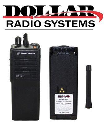 Used Motorola Ht1000 Vhf 136-174mhz 16ch 5w Portable Radio H01kdc9aa3an Wide
