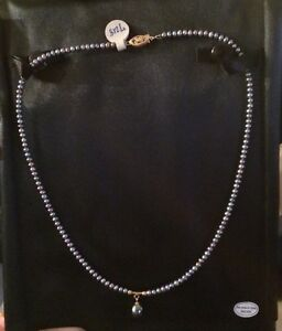 NEW! GORGEOUS Genuine Freshwater pearl necklace and pendant