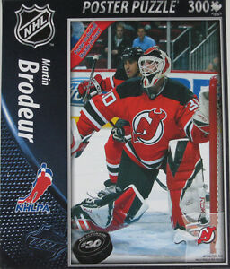 MARTIN BRODEUR .... TOP DOG puzzle .... with POSTER included