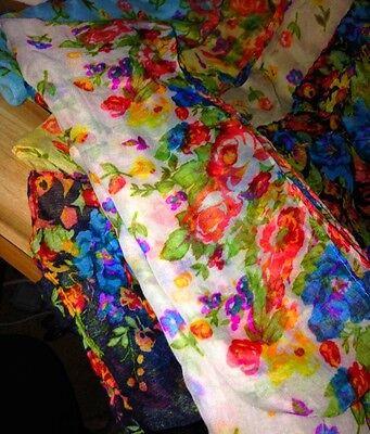 Vibrant Color Shaws Scarfs Lot Of 5 Handmade Brand New Items