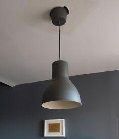 Ikea Hektar Grey Metal Ceiling Lights x 2 New